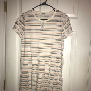 Stripped J crew Dress